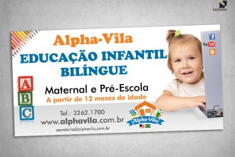 Nova campanha Alphavila escola infantil